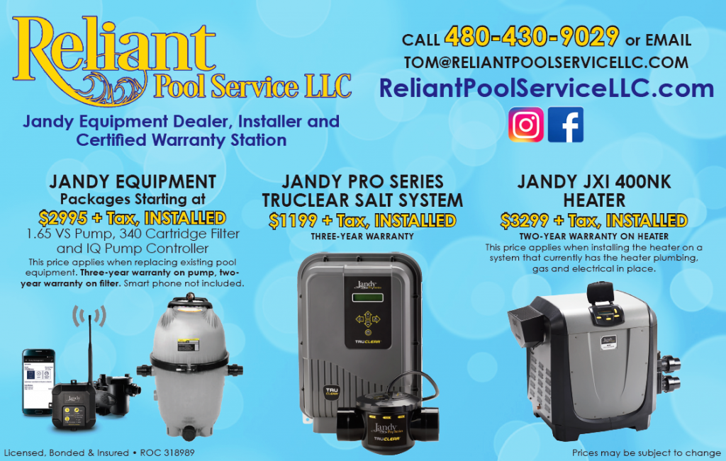 reliant pool service llc pool equipment specials products
